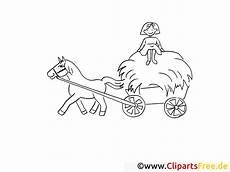 Ausmalbilder Herbst Pferde Pferd Und Wagen Angespannt Bild Malvorlage Zum Ausmalen
