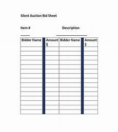 Bid Sheet Template Free Silent Auction Bid Sheet Template Free Word Printable