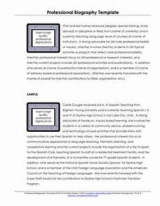 Short Bio Template 45 Biography Templates Amp Examples Personal Professional