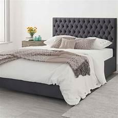 plush velvet upholstered ottoman bed steel
