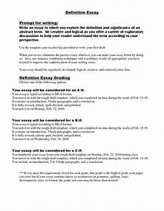 Writing A Definition Essay Examples Phenomenal Definition Essay Outline Example Thatsnotus
