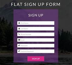 Sign Up Css Templates 20 Html5 Signup Amp Registration Forms Html Css Free