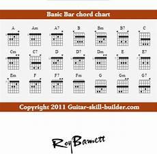 Guitar Bar Chords Chart Free Download Basic Guitar Bar Chord Note Chart For Free
