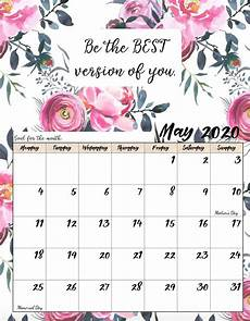 Print Free Monthly Calendar 2020 Free Printable 2020 Monday Start Monthly Motivational Calendar