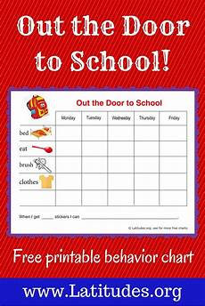 Child Incentive Chart Free Reward Chart Out The Door To School Charts For