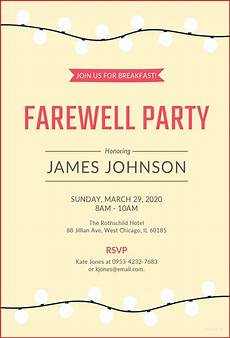 Farewell Invitation Email Farewell Party Invitation Wording