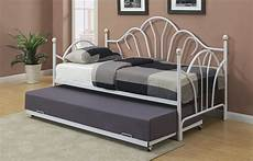 f9236 white trundle bed by poundex