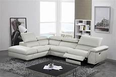 divani casa maine modern light grey eco leather sectional