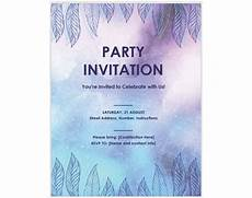 Free Party Templates For Word 13 Free Templates For Creating Event Invitations In