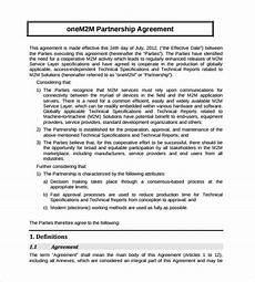 Partnership Agreement Template Free Download Free 24 Partnership Agreement Templates In Google Docs