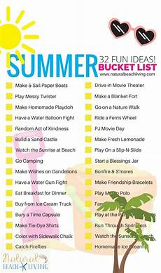 Babysitting Ideas For Summer Summer Bucket List Ideas For Kids Free Printable