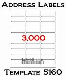 Free 5160 Label Template Avery 5160 Labels Ebay