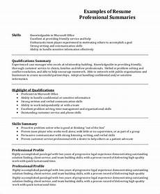 Professional Profile Examples Resume Free 7 Resume Profile Samples In Pdf Ms Word