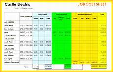 Job Costing Template Excel 6 Project Accounting Template Excel Exceltemplates