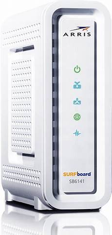 Lights On Arris Modem Sb6141 Surfboard Docsis 3 0 Cable Modem Surfboard