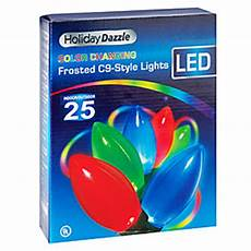 Color Changing Led Christmas Lights C9 View Holiday Dazzle Color Changing Frosted C9 Style Led