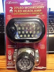 Izoom Ready Light Led Lights 2 Piece Set Worklight Amp Headlamp 27 Led New In