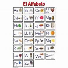 Spanish Alphabet Chart Printable Spanish Alphabet Educational Laminated Chart
