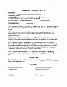 Free Wedding Contract Template Free Printable Wedding Photography Contract Template Form