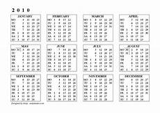 Calnder For 2010 Free Printable Calendars And Planners For Past Years