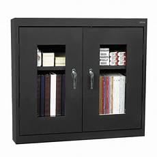 sandusky clear view wall cabinet shelf locking steel