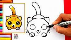 dibujos de gatos aprende a dibujar un gato kawaii f 225 cil how to draw a