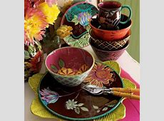 Colorful contemporary tableware of Tracy Porter Inspired