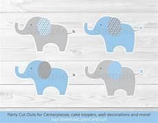 blue elephant cut outs elephant centerpiece wall decor