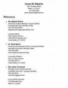 Listing References For Job Job Applications Obtaining References