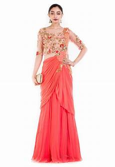 about the designer saree gowns utsavpedia