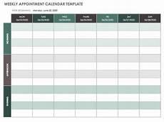 Weekly Schdule 15 Free Weekly Calendar Templates Smartsheet
