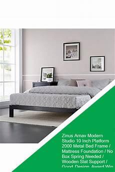 zinus arnav modern studio 10 inch platform 2000 metal bed
