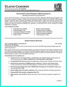 Construction Executive Resume Samples Construction Project Manager Resume For Experienced One