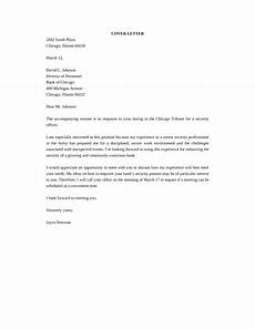 Cover Letter For Security Position Senior Security Officer Cover Letter Samples And Templates
