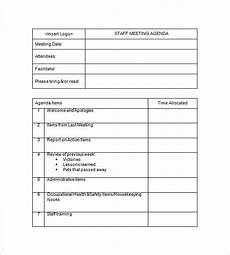 Employee Notes Template 17 Staff Meeting Minutes Templates Pdf Doc Free