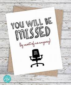 Free Printable Farewell Card For Colleague Coworker Card Funny Miss You Card Good Luck Card Funny