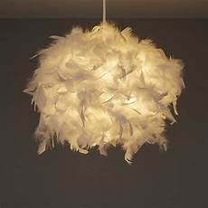 Feather Light Furniture Colours Melito White Feather Ball Light Shade D 250mm