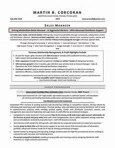 Resume Sample Of Sales Manager Resume Samples For Sales Manager Sample Resumes