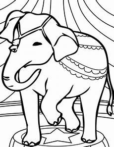 Elephant Printable Transmissionpress Circus Elephant Coloring Pages