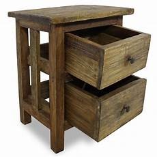 wooden nightstand bedside cabinet console table telephone