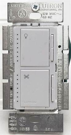 Lutron Fan And Light Switch Lutron Maestro Ma Lfq35 Wh Fan Control Amp Indoor Touch