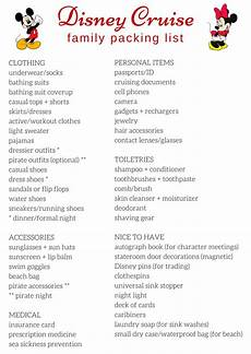 Printable Packing List For Cruise Free Printable Packing List For Disney Cruises