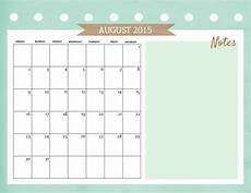 Calendar 2015 August 10 Lovely Calendars For August 2015
