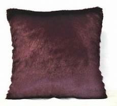 faux fur burgundy mink decorative throw pillow for