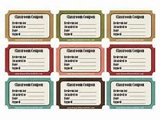 Printable Coupon Templates Free Classroom Management Ideas