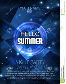 Party Flyer Size Club Party Flyer Hello Summer Party Flyer Vector Design