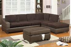 f7147 chocolate sectional sofa set by poundex