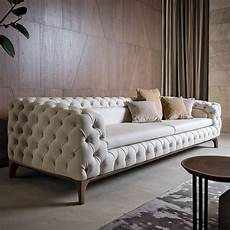 luxury italian designer button upholstered sofa