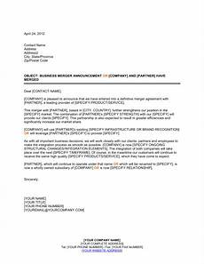Business Announcement Templates Announcement Of Business Merger Template Word Amp Pdf By