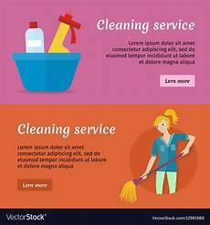 Cleaning Services Advertising Cleaning Service Advertisement Cards Set Poster Vector Image
